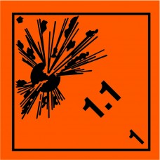 Class 1.1 Explosive Label