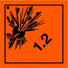 Class 1.2 Explosive Placard