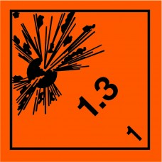 Class 1.3 Explosive Placard