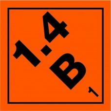 Class 1.4B Explosive Label