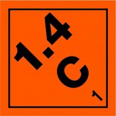 Class 1.4C Explosive Label