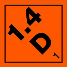 Class 1.4D Explosive Label