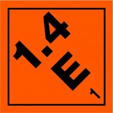 Class 1.4E Explosive Label