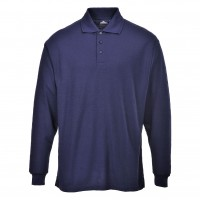Long Sleeve Polo Shirt navy blue