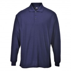 Long Sleeve Polo Shirt navy blue