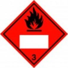 Class 3 Flammable Liquid Placard IMDG