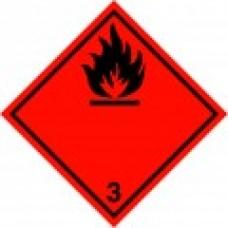 Class 3 Flammable Liquid Label
