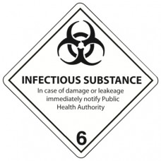 Class 6.2 Infectious Substance Label