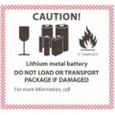 Lithium Metal Battery Label
