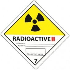 Class 7 Radioactive Yellow II Label