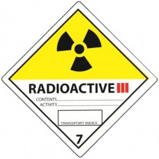 Class 7 Radioactive Yellow III Label