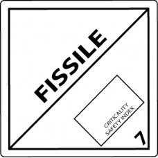 Class 7 Fissile Label