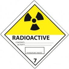 Class 7 Radioactive white 1 Label
