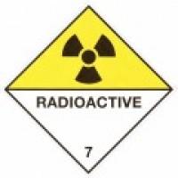 Class 7 Radioactive Placards - Metallic