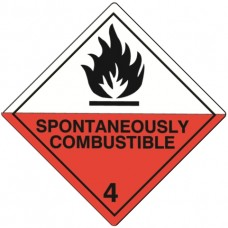 Class 4.2 Spontaneously Combustible Label