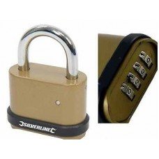 Zinc Alloy Combination Padlock 4-Digit 50mm