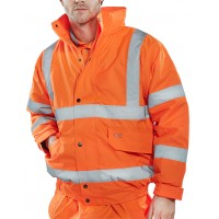 Hi-Vis Bomber Jacket orange