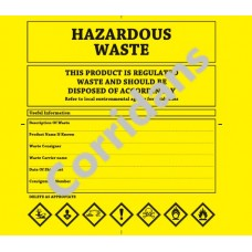 Hazardous Waste Bags 10 pack
