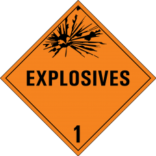 Class 1 Explosive Placard