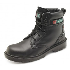 Black Safety Style Boot smooth leather