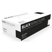 Nitrile Disposable Gloves - Powder Free - Black 100per box  L