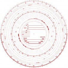 Analogue Tachograph Charts - Red