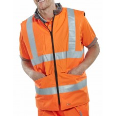 Hi-Vis 4 In 1 Body Warmer orange