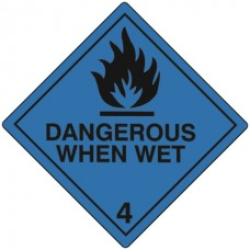 Class 4.3 Dangerous When Wet Label