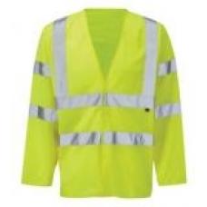 Flame Retardant Hi-Vis Jerkin - Long sleeve Waistcoat