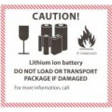 Lithium Ion Battery Label