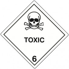 Class 6.1 Toxic Substance Label