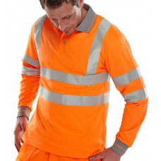 Hi-Vis Polo Shirt long sleeves orange