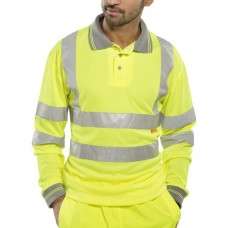 Hi-Vis Polo Shirt long sleeves yellow